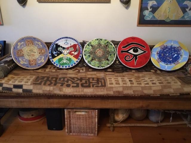 Kokopelli Mandala Drum