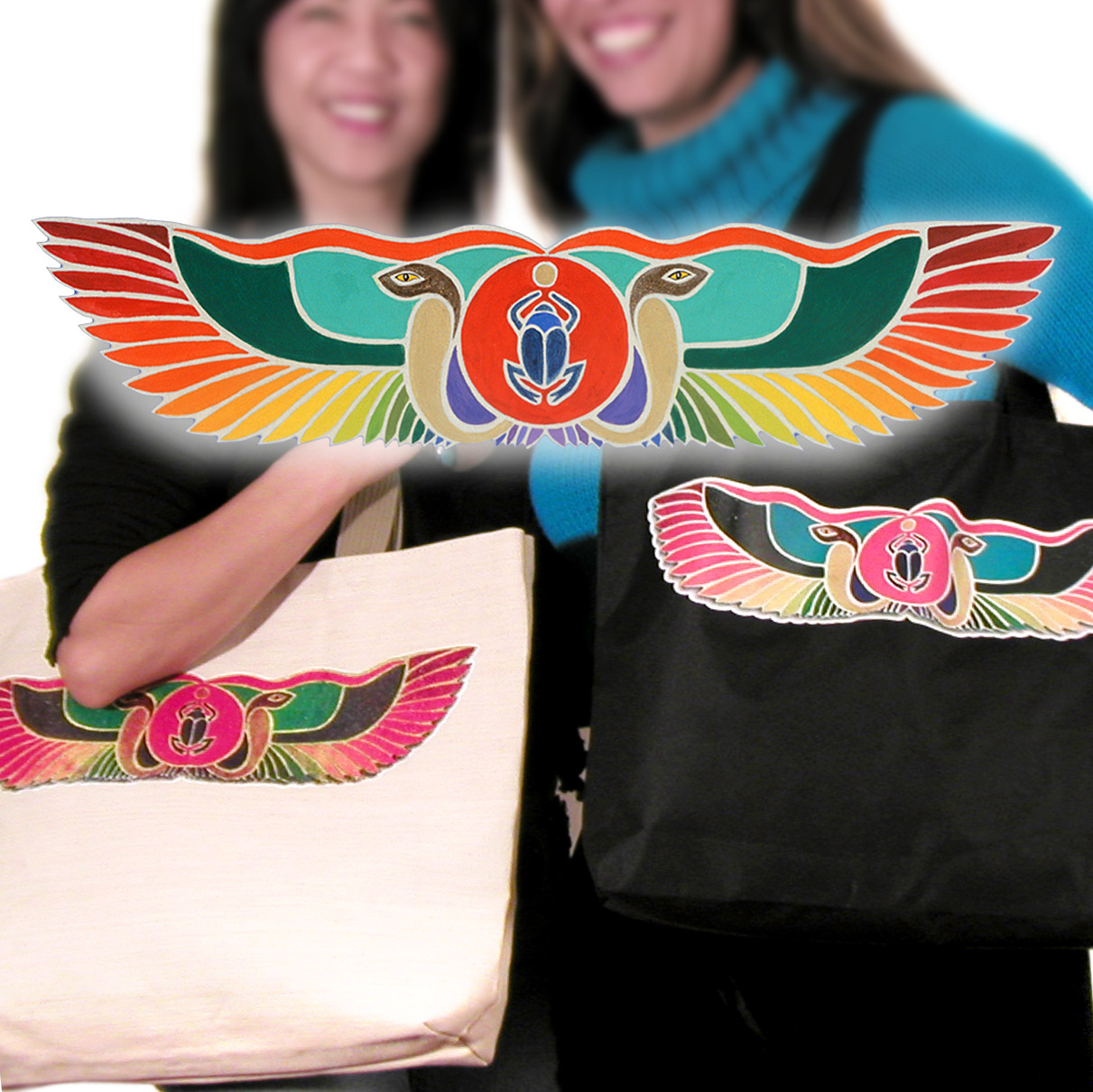 Winged Serpent Tote Bag