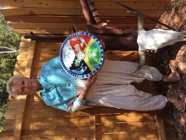 White Buffalo Woman Mandala Drum