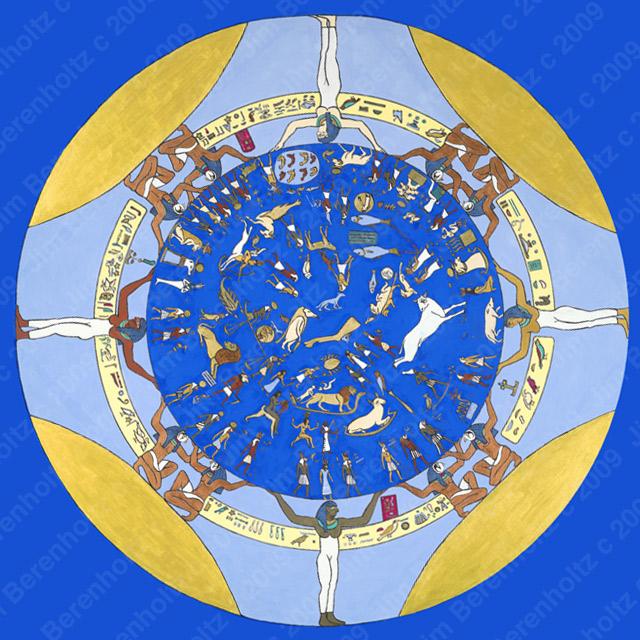Egyptian Zodiac Mandala